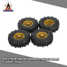 Super 4X AUSTAR AX-4020D 1.9 inch 110mm 1/10 RC Car Tires w/Solid Wheel Rim S2Q4