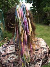 Dreads, Dreadlocks, Hair Extensions. Pastel Wool, Hippy, Bohemian, Festival.