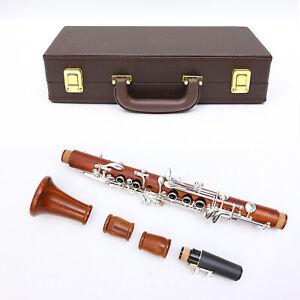 Yinfente Professional Clarinet Rosewood Eb Key Clarinet E flat Case 2 Barrels