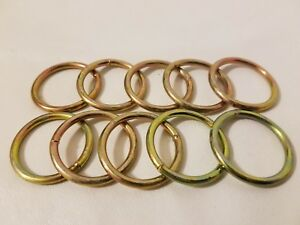 "Gold Toned 1.5/"" Macrame Ring PACK of 25 Metal Ring Hoop Brass"