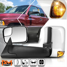 For 94-97 Dodge Ram 1500-3500 Power Chrome Side Towing Mirror w/Smoked LED Lamp