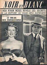 French Mag 1955 NOIR ET BLANC RITA HAYWORTH_ALI KHAN_VIRGINIA MAYO