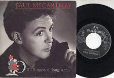 PAUL MCCARTNEY BEATLES disco 45 STAMPA ITALIANA Once upon a long ago ITALY 1987