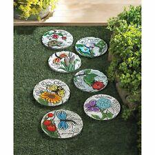 Decorative & Colorful Garden Stepping Stones Mix & Match - Nib