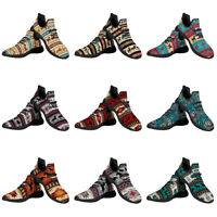 Aztec Horse Funky Knit Running Shoes for Womens Sports Athletic Walking Sneakers