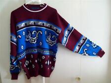 Towncraft Sz. L Men's Vintage 90's Crewneck Sweater Geometric Acrylic Nwot