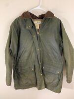 Vintage LL Bean Oiled Waxed Leather Full Zip Coat Size Womens Medium