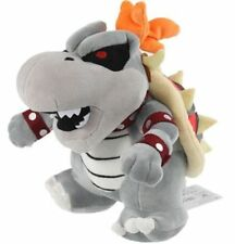 Super Mario Bros Dry Bowser Bones Koopa Plush Doll Figure Stuffed Animal Toy 10""