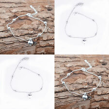 Fashion 925Sterling Silver Anklet Foot Chains Soles Ankle Barefoot Bracelet