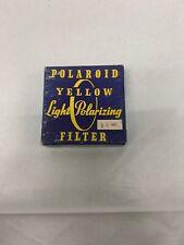 Vintage Polaroid Yellow Light Polarizing Filter 39mm Used