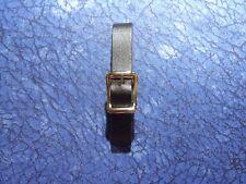 1 New 1/2 inch Black Leather Pocket Watch Fob Strap