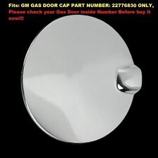 FOR 2014 15 Chevy Silverado 1500 GMC Sierra Chrome Gas Fuel Cap Door Cover