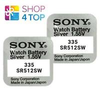 2 SONY 335 SR512SW BATTERIES SILVER OXIDE 1.55V WATCH BATTERY EXP 2021 NEW