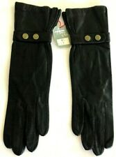 Vintage NEW ARIS of PARIS Kid GOAT SKIN Black LEATHER Gloves Size 6.5 France NWT