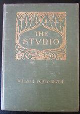 REVUES THE STUDIO 1909 PEINTURES TURNER GRAVURES ESQUISSES SKETCHING GROUNDS