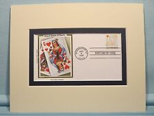 According to Hoyle - Card Games & First Day Cover of the King & Queen of hearts