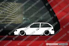 2x LOW 'Suzuki Swift GA GTI / Cultus (SF) lowered outline silhouette stickers