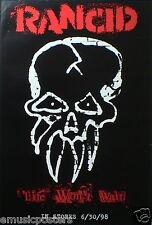 "Rancid ""Life Won'T Wait"" U.S. Promo Poster - American Punk Rock Music!"