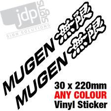 2x Mugen Cuerpo / Ventana Vinilo calcomanía de pegatinas de cualquier color