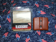 Blackhawk,SingleStack,Double MagCase Br Leather ( NIB )
