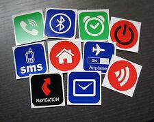 10 NFC Tag Sticker NTAG203 4cm Aufkleber 'Be organized' - für ALLE NFC Geräte !!