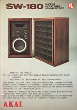 Akai SW-180 Original Speaker Brochure