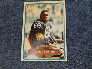 L.C. Greenwood #375 Topps 1980 Football Card (Pittsburgh Steelers)