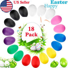 18Pcs Easter Eggs Shakers Percussion Musical Instruments Egg Maracas Toys