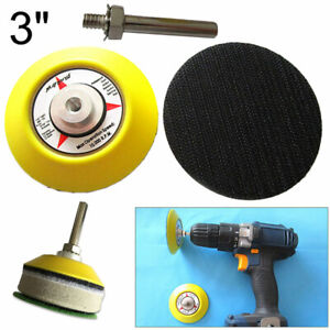 Hook & Loop Backing Pad Sanding Polishing Disc With Drill Attachment 3'' 75mm