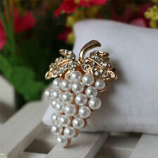 Brooch Rose Gold Plated Pearl Brooch Rhinestone New Scarf Buckle _fa
