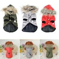 Winter Warm Padded Dog Coat Jacket Chihuahua Pet Hoodie Puppy Cat Clothes Outfit