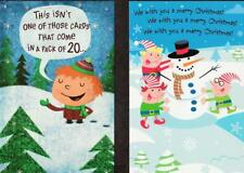 Lot of 2 Christmas Greeting Cards, FUNNY CARDS