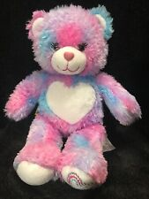 "Build A Bear Pink Teddy Bear 16"" Heart Nose Tn46L52"