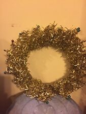 Bethany Lowe  Wreath Gold Foil Holiday Folk Art Farmhouse Vintage