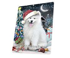 Holly Jolly Christmas Samoyed Dog Tempered Cutting Board Large Db555