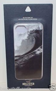 HOLLISTER OCEAN WAVE BLACK WHITE GRAPHIC PLASTIC HARD IPHONE 5 5S CASE SLEEVE