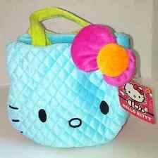 Hello Kitty Plush Neon Handbag - Blue with Red Bow