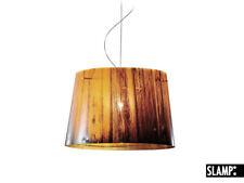 SLAMP WOODY LAMPADARIO LAMPADA A SOSPENSIONE DESIGN MADE IN ITALY ORANGE