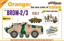 Dragon cyber hobby brdm - 2/3 plus bonus soviet tank crew model kit 1:35 scale