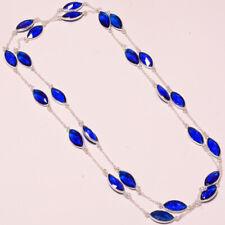 "Tanzanite Quartz Faceted Handmade Ethnic Fashion Jewelry Necklace 36"" RK-4581"