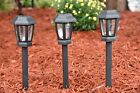12 Piece Set of Outdoor Solar Garden, Landscape / Pathway Lights Black Lamps