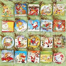 10pcs/set Random Hang On Christmas Tree Best Wish Holiday Greeting Small Card