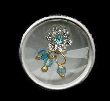 Bindi fleur bleu ciel bijoux de peau front ht de gamme strass 13mm  ING E 2443