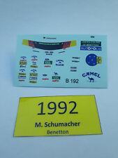Benetton Michael Schumacher Figur Decal 1/18 Waterslide Decal for Resin Driver