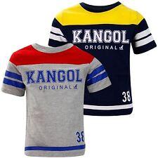 New Kids Boys Kangol Branded Printed Regular Crew Neck Casual Cotton T-shirt Top
