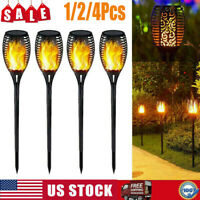 12 LED Solar Torch Dance Flickering Flame Light Garden Yard Lawn Waterproof Lamp