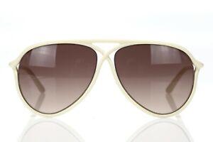 TOM FORD TF206 'Maximillion' Ivory Teardrop Oversized 59mm Sunglasses 141170