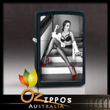 Zippo Lighter Red Shoe Girl #14 - Black Matte 77556  --- Free Shipping