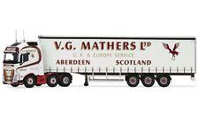 CC16003 Corgi Volvo FH Curtainside Trailer VG Mathers Diecast Lorry 1:50 Scale