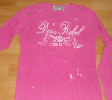 DOM REBEL  MENS T-SHIRT (L/S) Size Med. Color Fuschia 100% Cotton Made in Canada